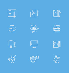 education and writing line icons collection vector image vector image