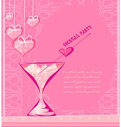 Invitation To valentine day Cocktail Party vector image vector image