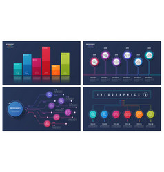 set of 6 options infographic designs vector image