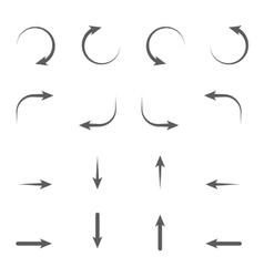 Arrows signs vector image