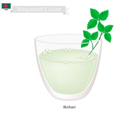 Borhani or Bangladeshi Cpicy Salted Yogurt Drink vector image