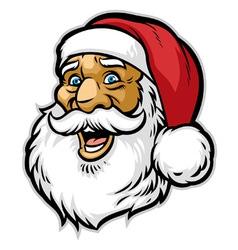 cheerful santa claus head vector image vector image