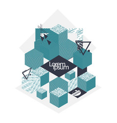 Creative geometric shapes background vector
