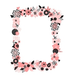 Frame from abstract flowers vector image