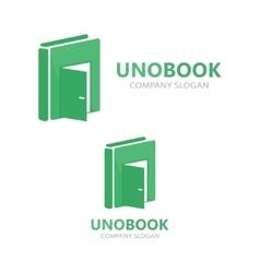 logo combination of a book and door vector image