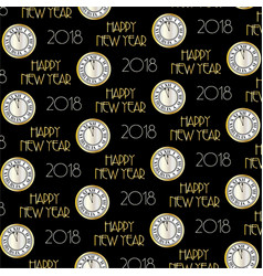 2018 typography and clock pattern vector image