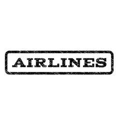 Airlines watermark stamp vector