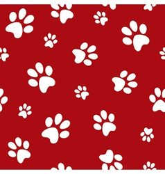 dog footprints vector image vector image