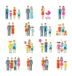 Family Icons Flat vector image vector image