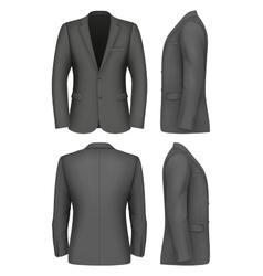 Formal Business Suits Jacket for Men vector image vector image