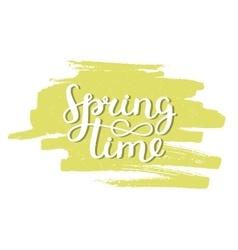 handdrawn lettering Spring time vector image