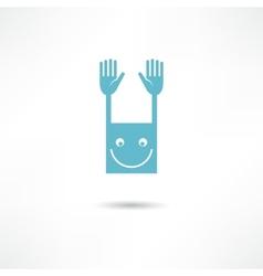 hello icon vector image vector image
