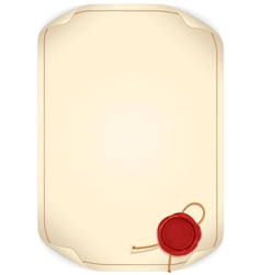 Paper Scroll with Wax Seal vector image