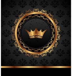 royal background with golden frame - vector image