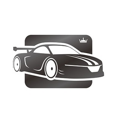 sports car template vector image