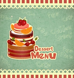 Vintage Cafe or Confectionery Dessert Menu vector image vector image