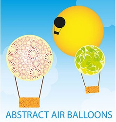 abstract air balloons vector image