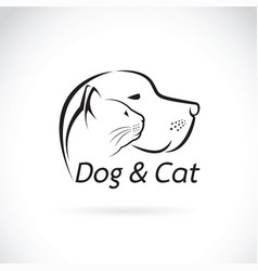 dog and cat on white background pet vector image