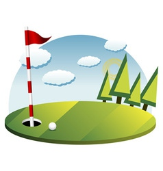 Golf background vector image vector image
