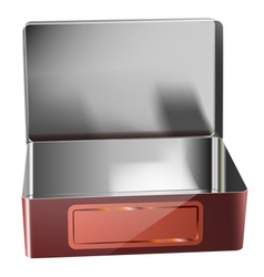metal container vector image vector image