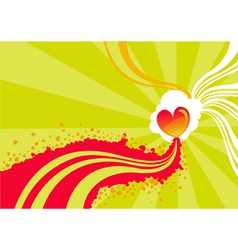 stylized heart background vector image