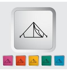 Tent icon vector image