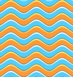 Abstract Colorful Waves Seamless Pattern vector image