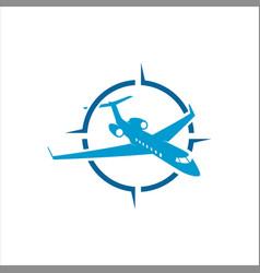 Air plane navigation template vector