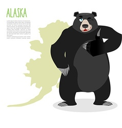 American black bear baribal and Alaska Grizzlies vector