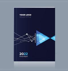 Annual-report-book-cover-design vector