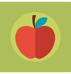 Apple idea concept in flat style vector image