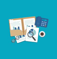 Auditing and business analysis concept vector