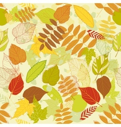 Autumnal bright leaf seamless vector image