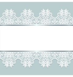 Background with lace vector