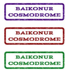baikonur cosmodrome watermark stamp vector image