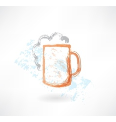 beer grunge icon vector image