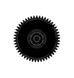 black cogwheel on a white vector image