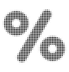 Black pixel percent icon vector
