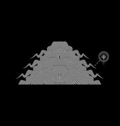 Black white design pattern optical vector