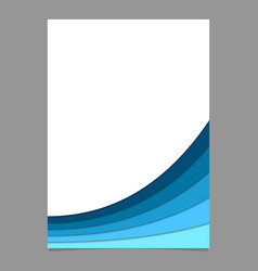 Blue poster template from curved stripes - page vector