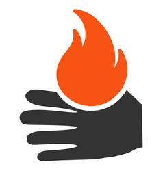 Burn hand flat icon vector