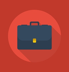 Business Flat Icon Briefcase vector image