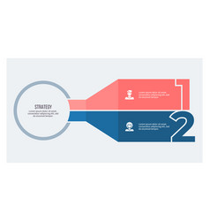 Business infographic banner with 2 steps options vector