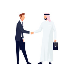 businessmen shake hands vector image