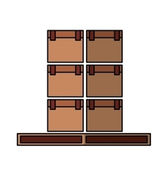 Carton boxes packing icon vector