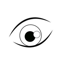 Cartoon eye iris vision look icon line vector