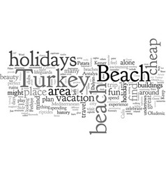 cheap holidays to turkey on the beach vector image