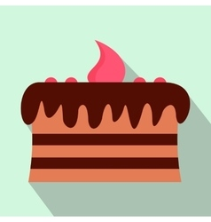 Chocolate cake flat icon vector