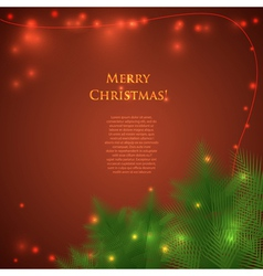 Christmas card with spruce branches vector