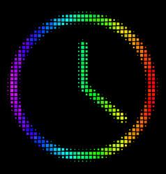 Colored dot clock icon vector
